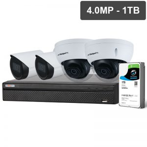 SECURITY 4 Channel NVR 4 MP Cameras
