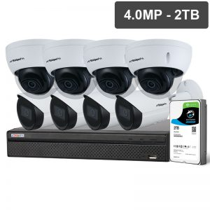 SECURITY 8 Channel NVR 4 MP Cameras