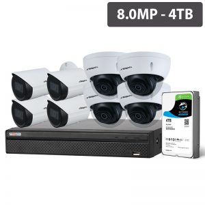 SECURITY 8 Channel NVR 8 MP Cameras